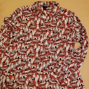 Ann Taylor fox shirt